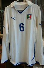 NWT Authentic Puma 2012 Italy De Rossi long sleeve Jersey away Jersey as roma L