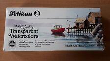 Vintage 1980s 725/24 PELIKAN Transparent Water Colour Watercolors Set