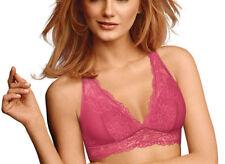 9d04ccfb405d7 Maidenform Lace Racerback Bralette Dm1126 Medium 38d Dark Pink
