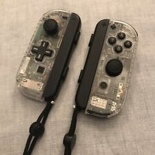 Nintendo Switch Joy Con Controller PAIR CUSTOM COLOUR with D-PAD - CLEAR WHITE