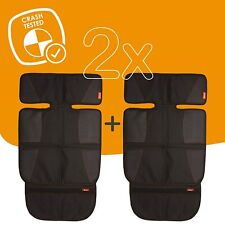 Diono Two2Go Super Mat, Car Seat Protector Black 2-Pack 677726405121
