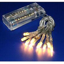 LED Lichterkette mit 10 Lämpchen warmweiß Batterie Betrieb für Weihnachtsstern