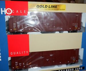 Walthers  HO  - Wisconsin Central 50' Hi Cube Paper Box Car 2 pack  932-27118