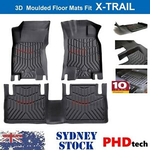 Prime 3D TPE All Weather Floor Mats Liners Fit NISSAN X-TRAIL T32 2014 - 2021