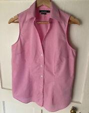 Ralph Lauren Pink Gingham Sleeveless Shirt M
