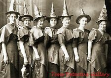A Group of Halloween Witches - c. 1910 - Historic Photo Print