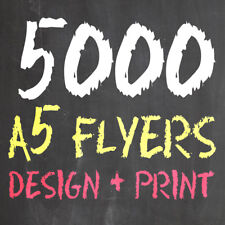 5000 A5 SINGLE SIDED FLYERS/LEAFLETS *inc. FREE CUSTOM DESIGN SERVICE*