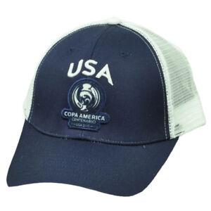 USA United States Copa America Centenario 2016 Mesh Futbol Soccer Hat Cap Navy