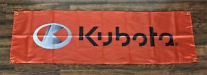 Kubota Banner Flag 1.5' x 5' Tractors Agricultural Advertising Promotional Farm