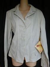 NEW Caribbean Joe Jacket 3 Button Front Khaki/Sand Size L NWT