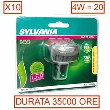 LOTTO X10 FARETTI lampade LED SYLVANIA GU5.3 GX5.3 4W=20W 35000H refLED MR16
