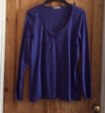 LADIES-SIZE 22 - VERY PRETTY-BLUE - LONG SLEEVE-CASUAL -TOP