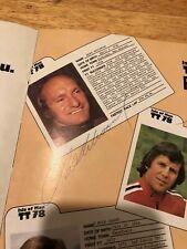 Mike Hailwood, Tom Herron, John Williams, Hennen signed 1978 TT programme.