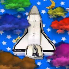 KATE SPADE OVER THE MOON ROCKET SHIP SPACE SHUTTLE CLUTCH PXRU5309