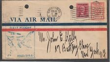 CANAL ZONE UC2 COVER LINDBERG FIRST FLIGHT REGISTERD MAIL 1926 MIAMI 2SCANS Z461