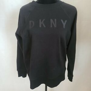 DKNY Womens Black Printed Embroidered Long Sleeve Sweater WS-070