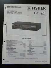 Original Service Manual Fisher Integrated Stereo Amplifier CA-321