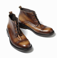 British Mens Real Leather Ankle Boots Shoes Brogue Carved Business Round Toe New