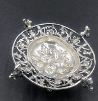Antique 19th century German cast silver dish - very ornate