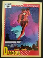 "Marvel Comics Cards 1991 ""Super Heroes"" Daredevil Trading Card #2"