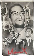 MALCOLM X COLLAGE FLAG.AFRICAN AMERICAN, PAN AFRICAN. 3FT. X 5 FT.