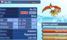 Pokemon Strategy Guide: Regenerator Ho-Oh 6IV +Item Customization For XY/ORAS/SM