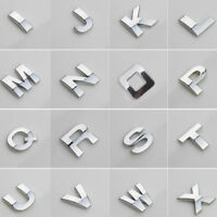 40pcs Car Auto Chrome Metal DIY 3D Letters Digital Alphabet Emblem Car Stickers