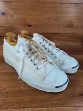 Vintage Converse Jack Purcell White Canvas Men's 9.5 Made in USA *New Old Stock*