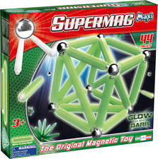 Supermag Magnetic Building Set Glow 44 Pieces