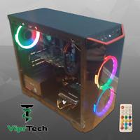 Gaming PC Desktop Computer FX4100@3.8Ghz,8GB RAM,500GB HDD,HD 7470 1GB,Win10,RGB