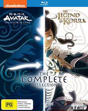 AVATAR THE LAST AIRBENDER 1-3 + LEGEND OF KORRA 1-4 (Reg Free) Blu-ray Season
