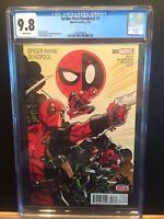 MARVEL 2016 SPIDER-MAN/DEADPOOL #3 CGC 9.8! 1ST APP MERCS FOR MONEY! NEW CASE!