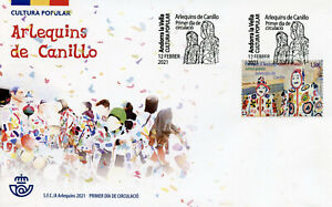 Spanish Andorra Cultures Stamps 2021 FDC Harlequins of Canillo Carnival 1v Set