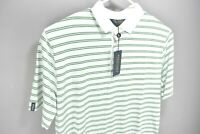 NEW Ralph Lauren Polo Golf Mens Performance Shirt White Green Stripes Size L $90
