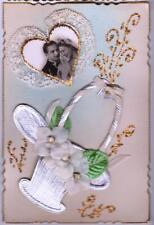 CARTE POSTALE ANCIENNE LES MARIEES MARIAGE  editeur BF PARIS  carte non écrite !