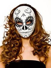 Uomo Donna Halloween Giorno dei Morti Full Face Mask FANCY DRESS ACCESSORIO NUOVO
