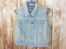 Les femmes Oui Oui Jeans NEW LOOK London Denim Jeans Délavé Gilet 12 40