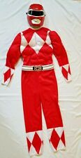 Red Power Ranger Costume Muscle Chest Size L 10 12 Boys