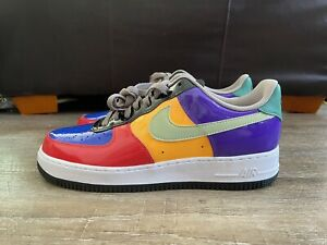 Nike Air Force 1 Low ID By You Patent Leather Multi Color Men's Sz 10 DJ7015-991