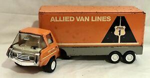 Vintage 1970's Tonka Allied Van Lines Semi Tractor Trailer Moving Company