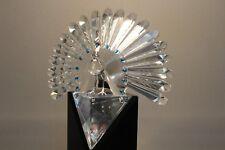 "Swarovski Crystal Figurine 218123 Limited Edition The Peacock 7.5""H 5432 / 10000"