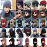 Unisex Mens Womens Winter Beanie Hat and Scarf Glove Set Fleece Knitted Ski Hats