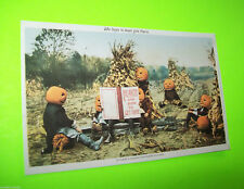 Halloween Postcard 1993 Is There A Heaven For Pumpkinheads? Ken Brown Repro Cool