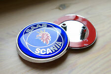 "2.5"" 68mm Blue Rear Hood Emblem Badge Decal For SAAB SCANIA 9-3 93 9-2X 2-PIN"