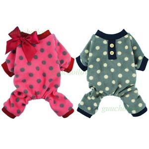 Fitwarm Fleece Pet Pajamas for Dog Clothes Winter Jumpsuit Apparel Coat XS S M L