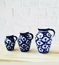 Miniature dolls house Accessories set of 3 Jugs 1:12th scale miniature size