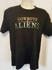 Cowboys & Aliens San Diego Comic Con 2010 Movie Promo Mens Shirt Size L Large