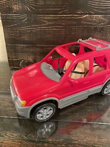 2002 Mattel Barbie Ford Escape Hybrid SUV Red Car w/ Movable Seats & Seat Belts
