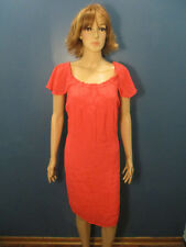 plus size 2X orange pink lined stretch bust dress by SPEED CONTROL