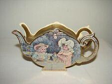 Vintage Merrimack Paper Die Cut Victorian Tea Pot Box